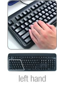 Using the Half-QWERTY Keyboard with the left hand